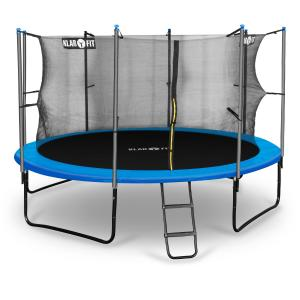 Rocketboy 366 Trampoline 12ft Safety Net Inside, Wide Ladder - Blue Blue | 366 cm