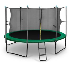 Rocketstart 366 trampoliini 366 cm turvaverkko, tikkaat, vihreä vihreä | 366 cm