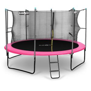 Rocketgirl 366 Trampoline 12ft Safety Net Inside, Wide Ladder - Pink Pink | 366 cm