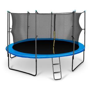 Rocketboy 430 trampoliini 430 cm turvaverkko, tikkaat, sininen sininen | 430 cm