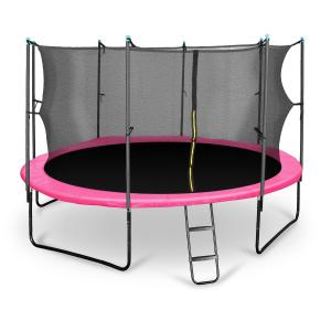 Rocketgirl 430 trampoliini 430 cm turvaverkko, tikkaat, pinkki pinkki | 430 cm