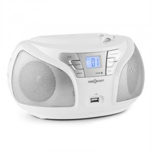 Groovie WH Boombox Bluetooth CD FMAUX MP3 biały Biały
