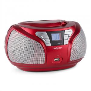 Groovie RD Boombox Bluetooth CD UKW AUX MP3 rood Rood