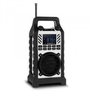 Hero Baustellenradio Outdoor-Lautsprecher DAB/DAB+ Bluetooth - weiß