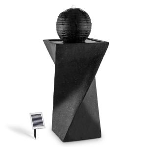 Schönbrunn Fuente esférica solar 200 l/h LED Basalto
