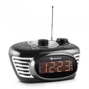 RCR 56 BK Retro Alarm Clock Radio FM AUX Black