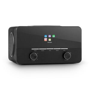 Connect 150 BK 2.1-Internetradio Mediaplayer WLAN LAN USB DAB+ UKW Schwarz
