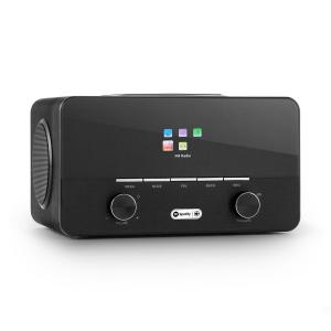 Connect 150 BK 2.1-Internetradio mediaplayer WLAN LAN USB DAB+ FM Svart