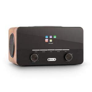 Connect 150 2.1 Internet Radio Alarm Clock Media Player Wifi USB Spotify Walnut