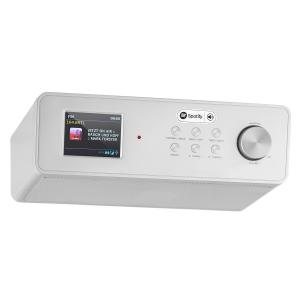 "KR-200 Kitchen Radio Base Internetradio Spotify Connect 2.4"" Color Display WiFi DAB+ FM RDS AUX Alarm Silver"
