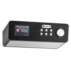 "KR-200 Base Kitchen Radio Internetradio Spotify Connect 2.4"" colour Display WiFi DAB+ FM Alarm Black"