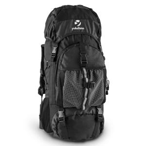 ThurwieserBL Trekking Backpack 55L Nylon Waterproof Black Black