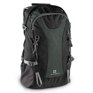 CS 38 Backpack Sport Leisure 38L Nylon Waterproof Black Black