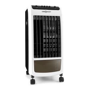 Carribean Blue 3-in-1 Luftkühler Ventilator Luftbefeuchter 402 m3/h | 70 Watt | 4 Liter | 3 Geschwindigkeiten | Oszillation | mobil Schwarz