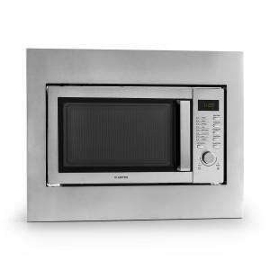 Steelwave kuchenka mikrofalowa 23l 800W grill 1000W stal nierdzewna ramka do zabudowy Z ramą