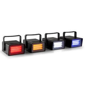 Mini LED-stroboscoop set RGBW 4 stuks