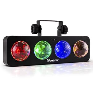 DJ Bank BX Party Light Effect 4 x RGBA LED Remote Control Black