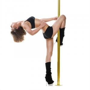 Gold Dust Barre de pole dance rotative/statique 2.74m Inox Titan Or 45mm