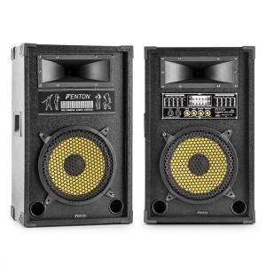 "Skytec SPA1000Y 10"" Speaker Pair 25cm 800W max. USB SD MP3 EQ 25 cm (10"")"