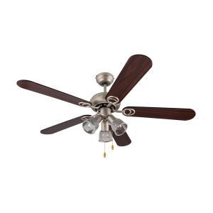 Charleston Retro Ceiling Fan Light 60W 122cm 3 Wooden Blades
