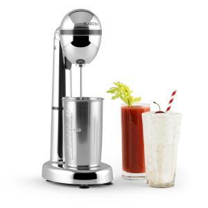 Van Damme Drink-Mixer Shaker 100w 450 ml mixcontainer uit roestvrij staal - zilver Zilver