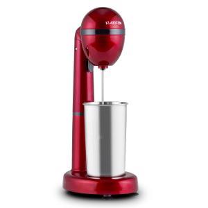 Van Damme Drink-Mixer Shaker 100w 450 ml mixcontainer uit roestvrij staal - rood Rood