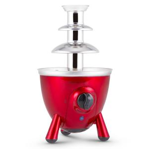 Cioccolata di Trevi Chocolate Fountain 3 Tier 60W Stainless Steel Red