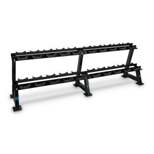 Bellbed Dumbbell Rack 20 Holders Black