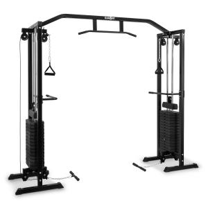 Cablefit Cable Pull Station Multi-Gym Black Steel 2 x 170lb Black
