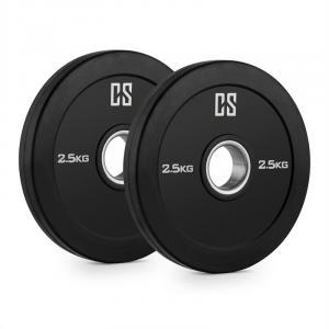 Elongate Bumper Plate Gewichtsplatten Paar Gummi 2,5kg 2x 2.5 kg