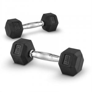Hexbell Paire d´haltères courtes Dumbbell 2,5kg 2x 2.5 kg