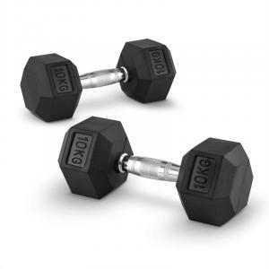 Hexbell 10 Pair of Dumbbells 10 kg 2x 10 kg