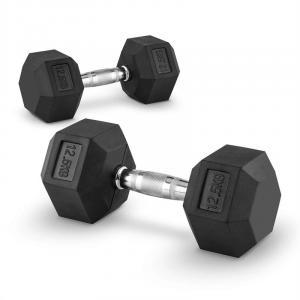 Hexbell 12,5 Dumbbell Korte Halter Paar 12,5 kg 2x 12.5 kg