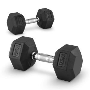 Hexbell Lot de 2 haltères courts Dumbbell 17,5kg 2x 17.5 kg