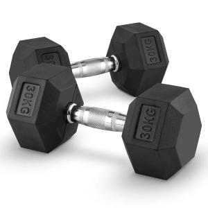 Hexbell Lot de 2 haltères courts Dumbbell 30kg 2x 30 kg