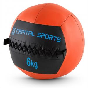 Wallba Medicine Ball Set of 5 6kg Leatherette Orange