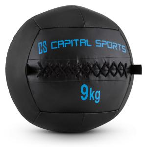 Wallba 9 Wall Medicine Ball 9kg Leatherette Black 9 kg