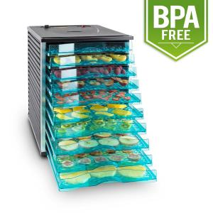 Fruit Jerky 10 10-Tiered Stainless Steel Food Dehydrator 800 W Black 10 stages