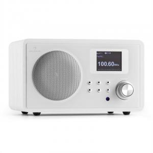 IR-150 Retro Vintage Wooden Internet Radio FM DLNA W-LAN with Remote White