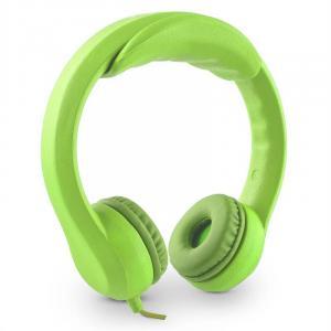 Flexi słuchawki dla dzieci maks. 85dB bardzo elastyczne giętkie neonowa zieleń