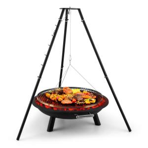 Arco Trino Swivel Grill Fire Pit BBQ Tripod Stainless Steel