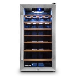 Vivo Vino 26 Wine Refrigerator 26 Bottles 88 Litre Stainless Steel LED Black 88 Ltr