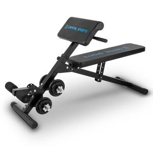 Sit'n Curl Adjustable Sit Up And Curl Bench with 20 kg Dumbbell Set