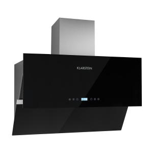Aurea VII Extractor Cooker Hood 90 cm touch panel black glass Black | 90