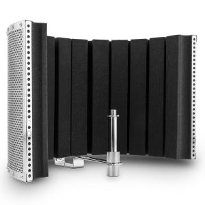 MP32 MKII microfoonscherm absorber diffuser incl. adapter zilver