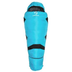 Pjanda Mummy Sleeping Bag Kids Adjustable 300 g / m² Hollow Fibre Filling Blue
