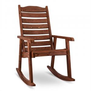 Alabama Cadeira de Baloiço de Jardim Madeira Maciça Castanho Castanho