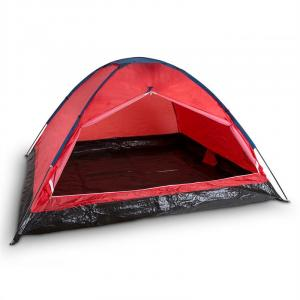 Cenote tente de camping 4 places dôme polyester Orange