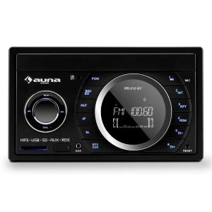 MD-210 BT RDS Car Radio Bluetooth FM USB SD AUX MP3 Microphone 2-DIN 4x75W