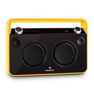 Bebop Equipo de sonido USB Bluetooth AUX MIC Batería Amarillo
